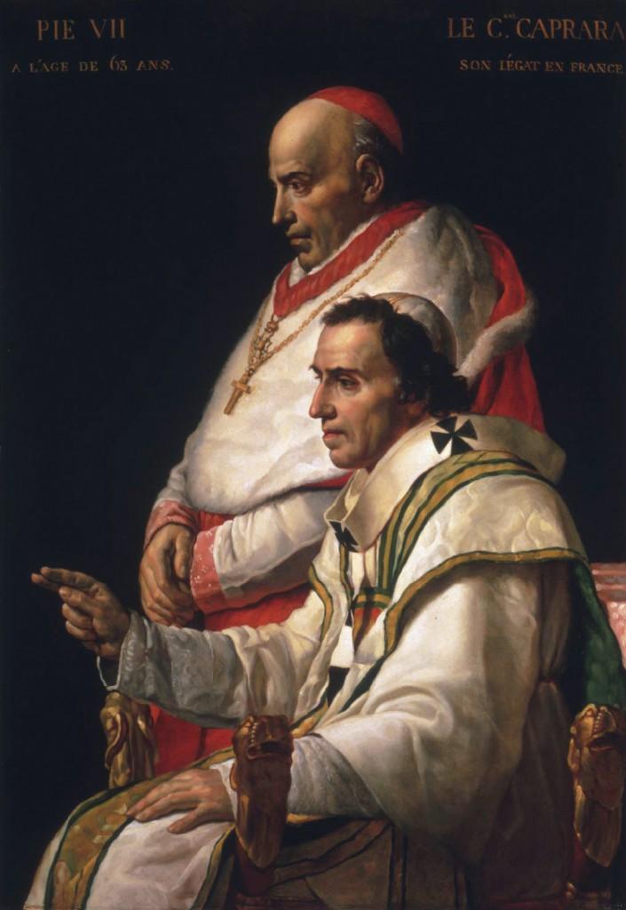 Pope Pius VII and Cardinal Caprara *oil on panel *138.1 x 96 cm *ca 1805